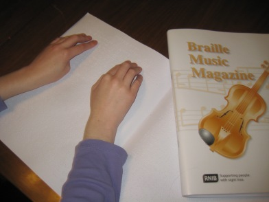 Reading Braille Music Magazing
