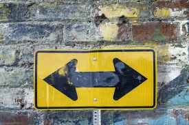 two arrow sign